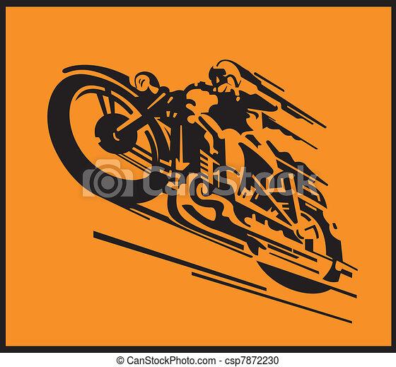 Motorcycle vector background - csp7872230