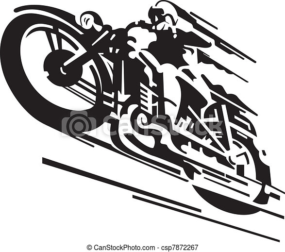 Motorcycle vector background - csp7872267