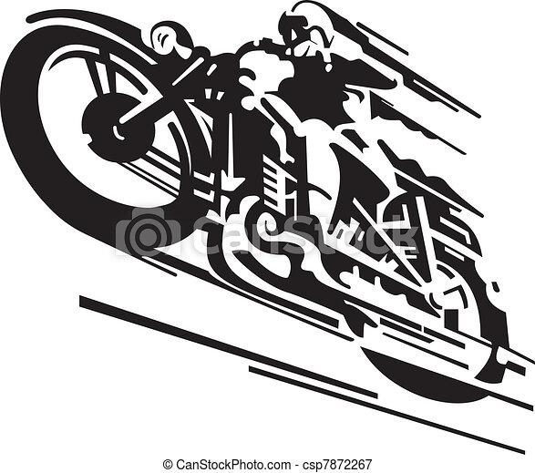 Motorcycle vector background - csp7872267