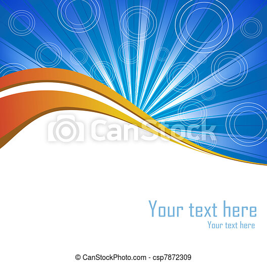 Vector blue burst background - csp7872309