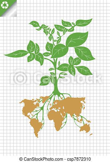Potato plant bush vector concept - csp7872310