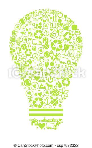 Eco light background - csp7872322