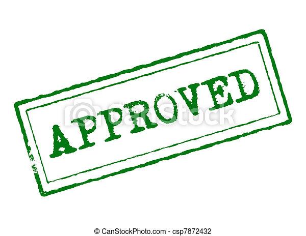 clip art de approuv vert approuv tampon concept de qualit et csp7872432. Black Bedroom Furniture Sets. Home Design Ideas