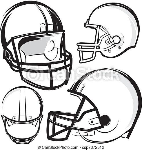 Football Helmets - csp7872512