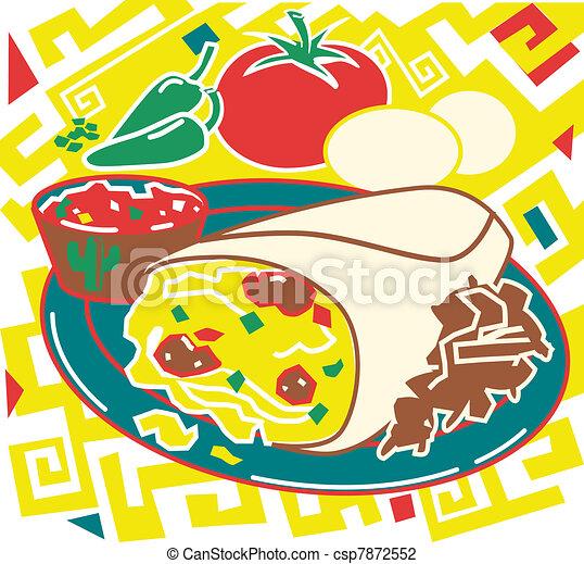 Breakfast Burrito - csp7872552