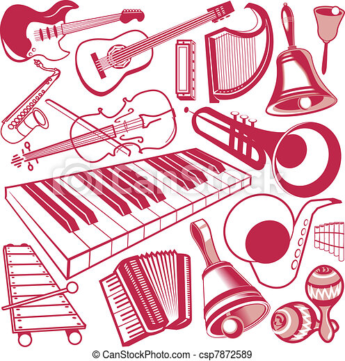 Musical Instrument Collection - csp7872589