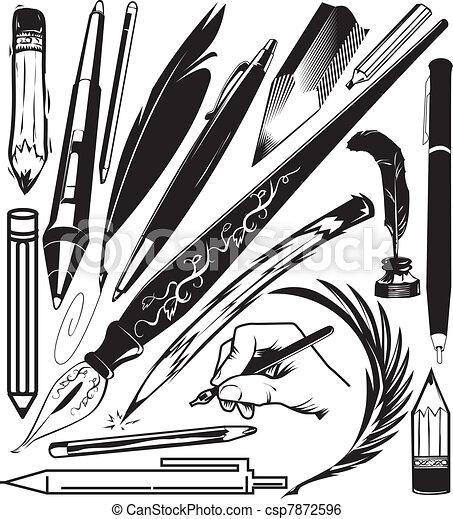 Pens & Pencils - csp7872596