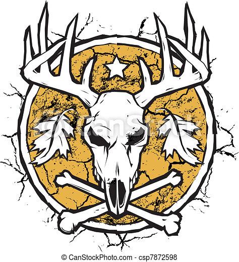 Hunter's Dry Earth Emblem - csp7872598