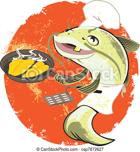 Catfish Fry Cook - csp7872627