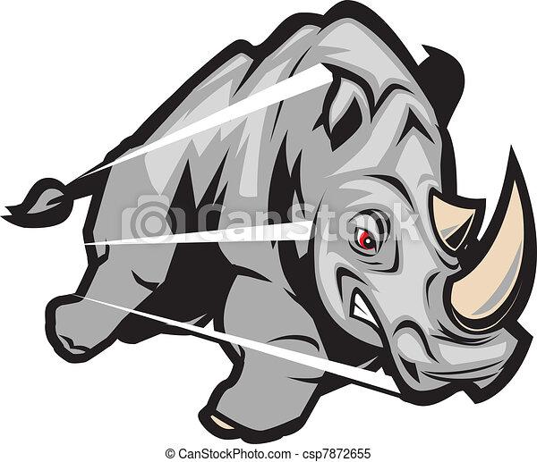 Charging Rhino - csp7872655