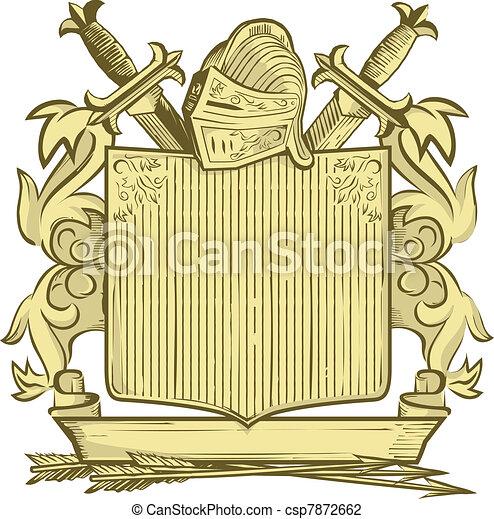 Knight Crest - csp7872662