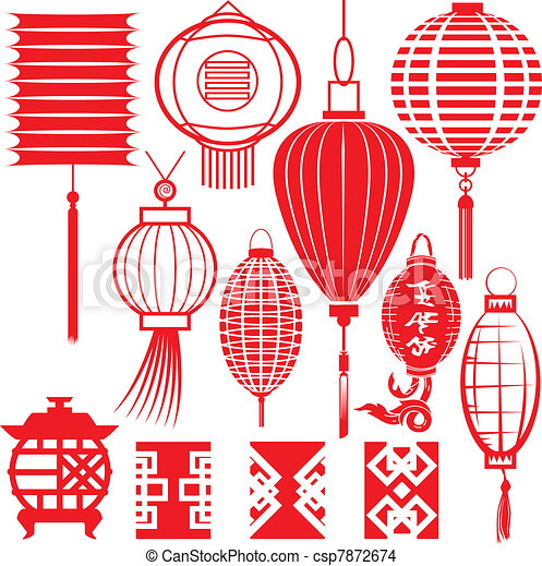 中国語, コレクション, ランタン - csp7872674