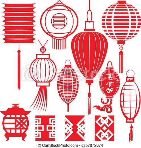 Chinese Lantern Collection - csp7872674