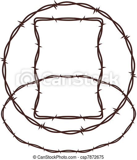 Barbed Wire - csp7872675
