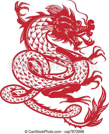 Dancing Dragon - csp7872696