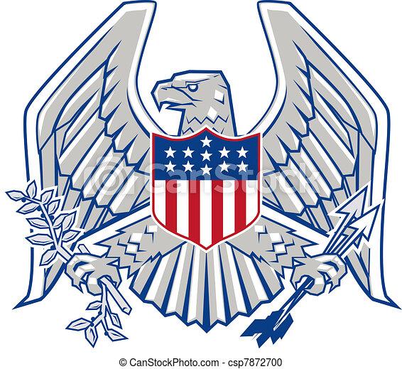 Patriotic Eagle - csp7872700