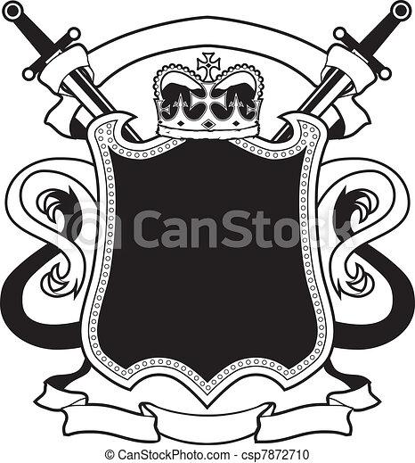 Blank Royal Crest Clipart