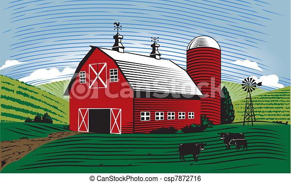 Barn Scene - csp7872716