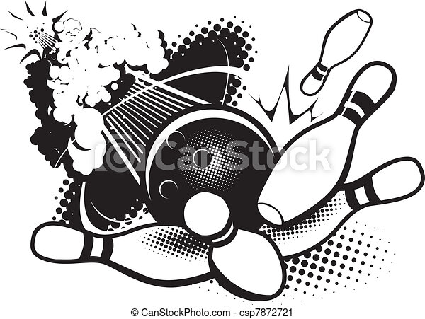 Bowling Illustrations and Clipart. 42,735 Bowling royalty free ...