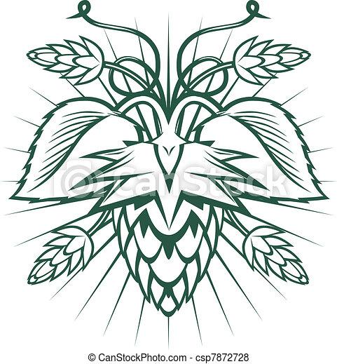 Hops Emblem - csp7872728