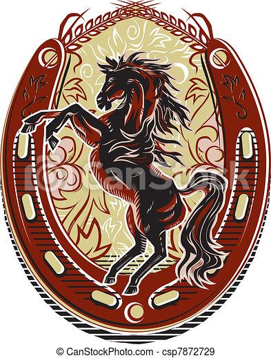 Wild Horse Western Crest - csp7872729