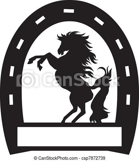 Vecteurs eps de fer cheval signe a fer cheval signe - Dessin fer a cheval ...