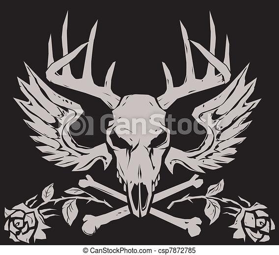 Deer Crossbones - csp7872785
