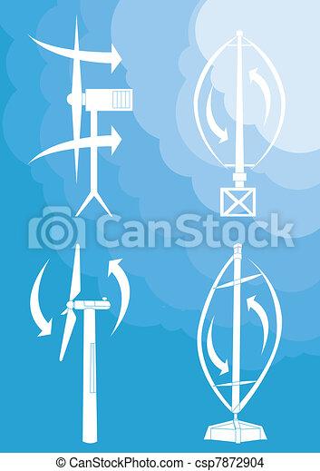Wind generators and wind turbines - csp7872904