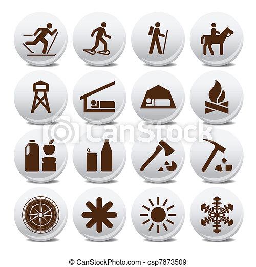 Tourism vector icons - csp7873509