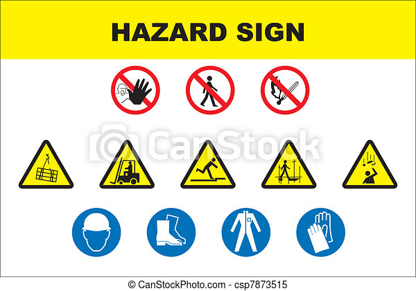 Safety and danger icon set - csp7873515