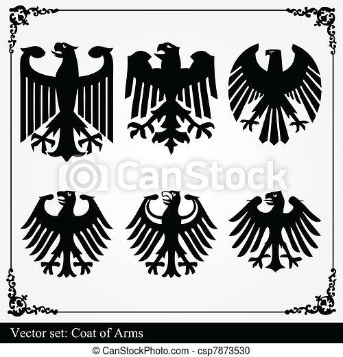 Eagle coat of arms heraldic - csp7873530