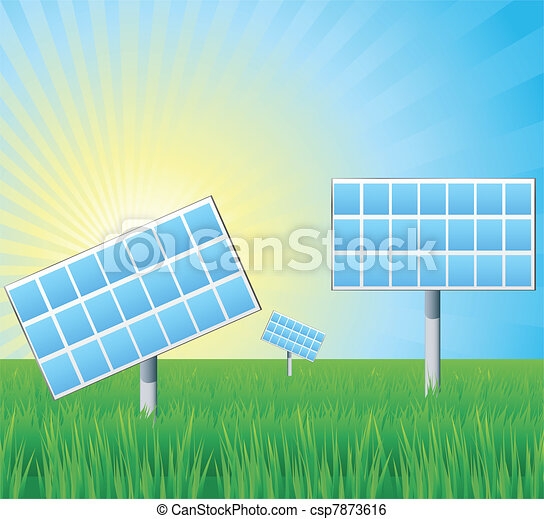 Alternative energy solar panels - csp7873616