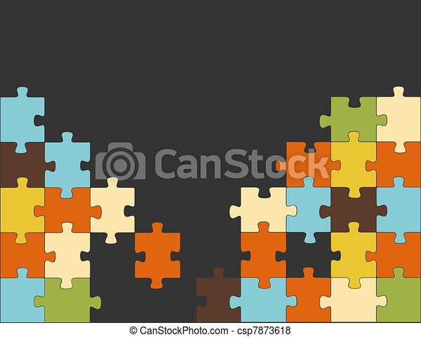 Abstract puzzle background decor - csp7873618