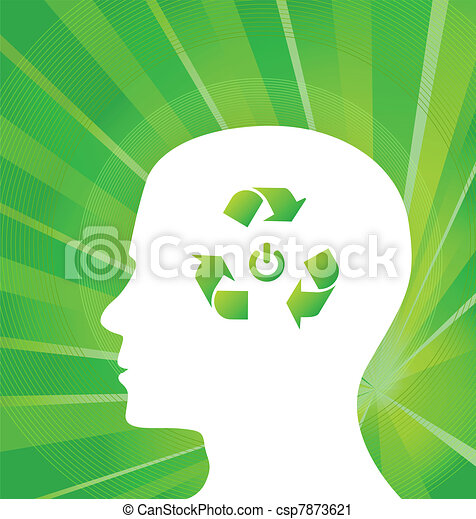 Think Green Vector concept - csp7873621