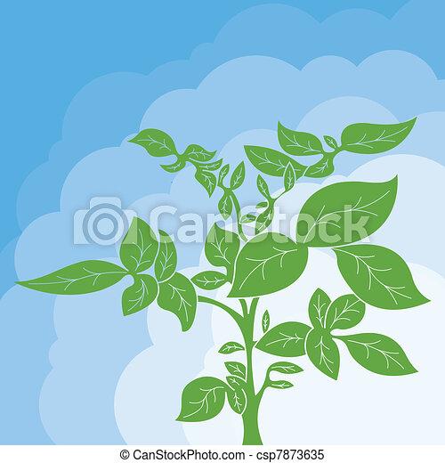 Potato plant bush vector concept - csp7873635