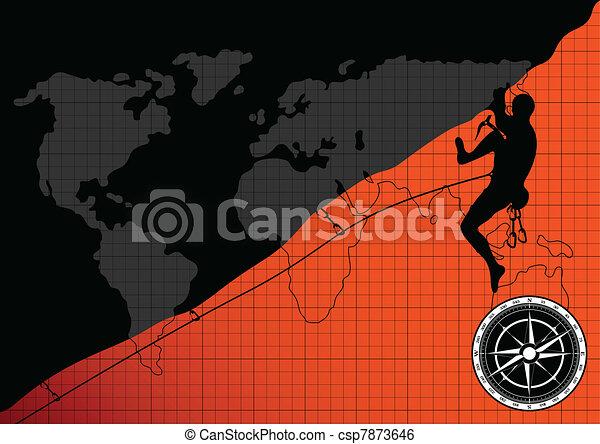 Professional mountain climber - csp7873646