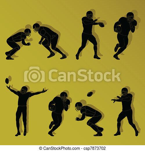 American football player - csp7873702
