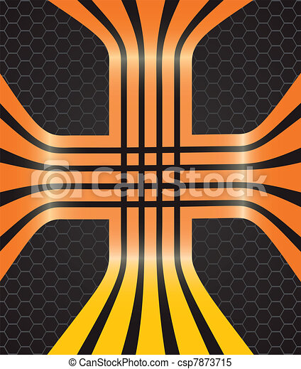 Vector background with orange lines - csp7873715