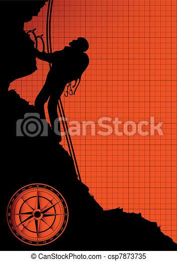 Mountain climber silhouette - csp7873735