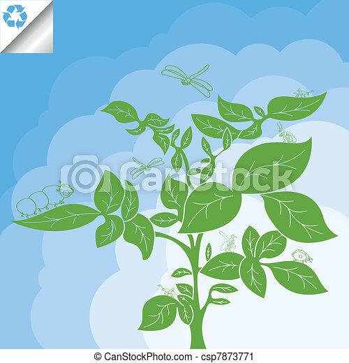 Potato plant bush vector concept - csp7873771