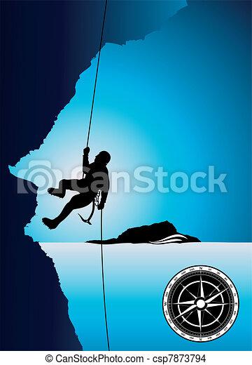 Professional mountain climber vecto - csp7873794