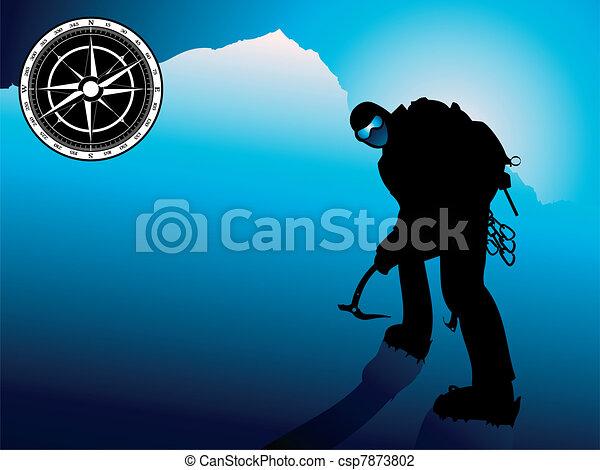 Professional mountain climber - csp7873802
