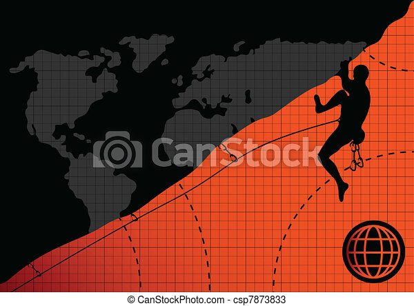 Professional mountain climber - csp7873833