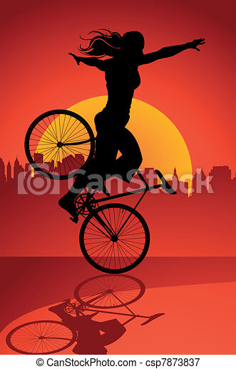 Fixed gear bicycle driver - csp7873837