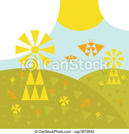 Landscape fields wind generator - csp7873843