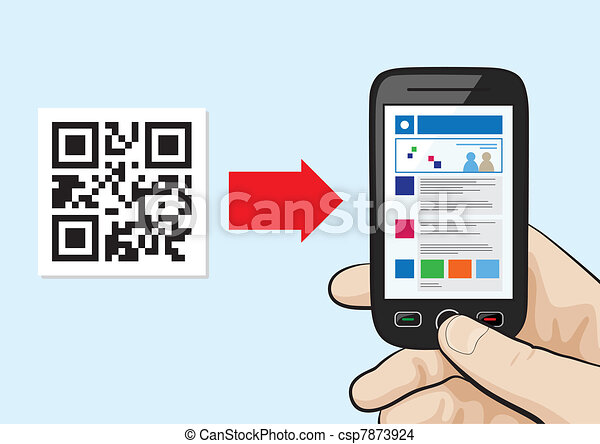 QR Code scanning technology - csp7873924