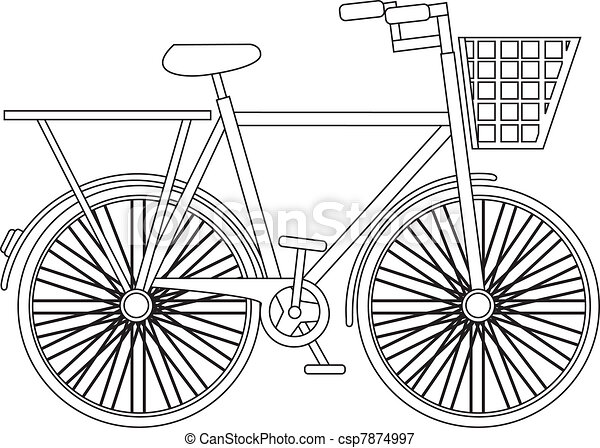 silhouette bicycle - csp7874997