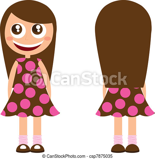 clipart vector of girl cartoon with long hair isolated vector illustration csp7875035 search happy girl clip art free happy girl clipart free
