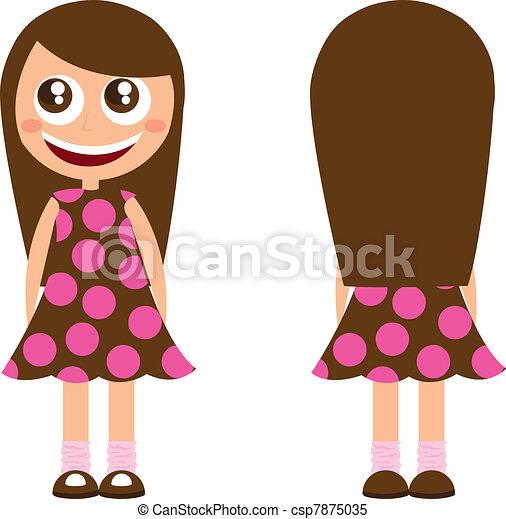 clip art girl with long hair clipart rh worldartsme com disney cartoon girl with long hair cartoon girl with very long hair