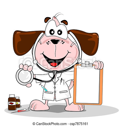 Cartoon doctor vet